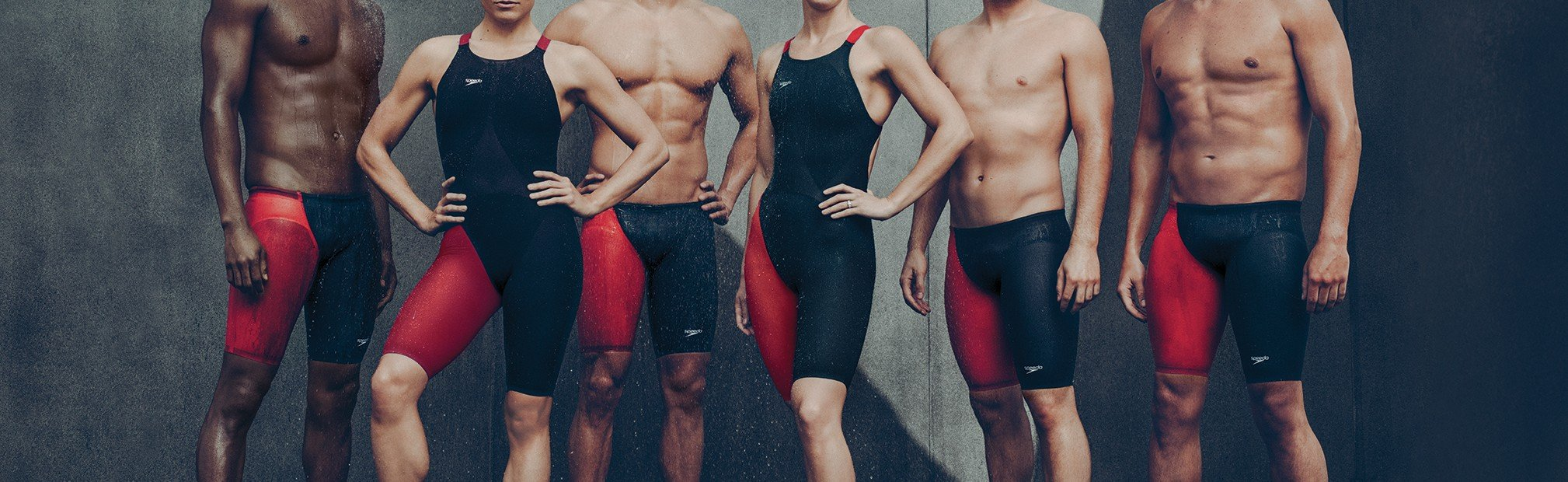 Professional Athletes wearing high performance technical racing suits