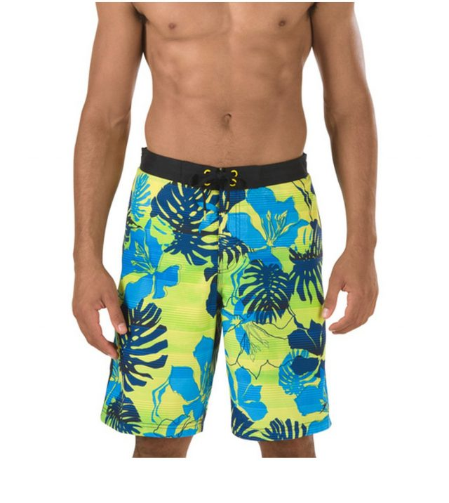 Speedo_Floral_Boardshorts_Vibrant_Yellow